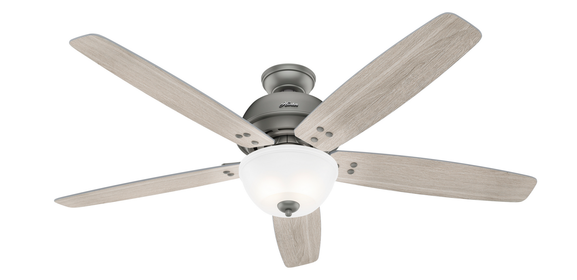 Hunter Indoor Highdale Ceiling Fan with LED LightJD inch, Brushed Nickel/Chrome, 50406