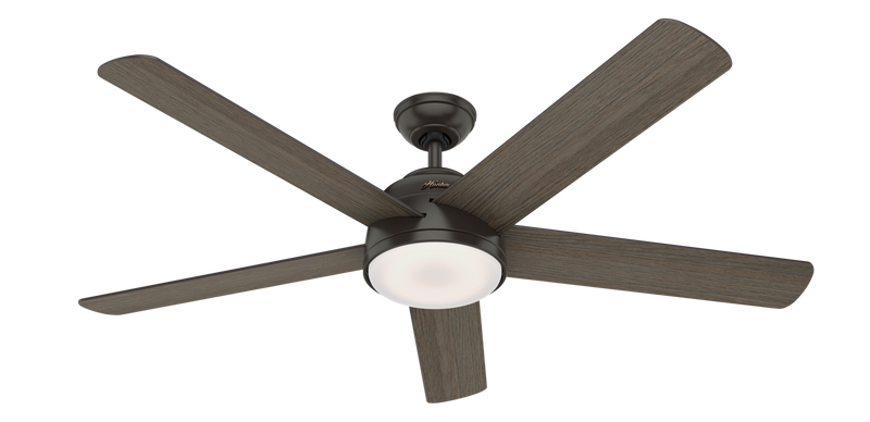 Hunter Indoor Romulus Ceiling Fan with LED LightJD inch, Bronze/Brown, 59485