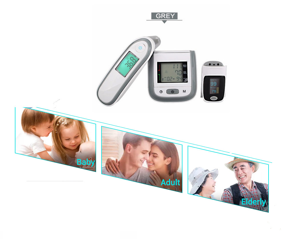 Blood Pressure Monitor + Infrared Ear Thermometer - Health Pack