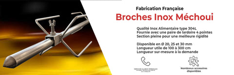 broche inox mechoui