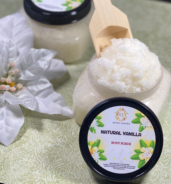 Natural vanilla body scrub