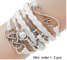 Load image into Gallery viewer, Double Leather Multilayer Charm bracelet