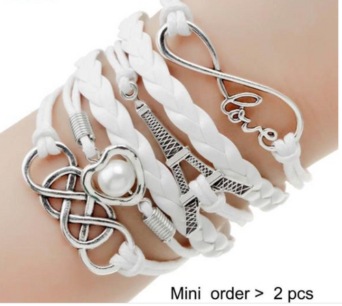 Double Leather Multilayer Charm bracelet