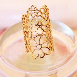 Trendy Hollow Flower Ring - Every Day Itemz