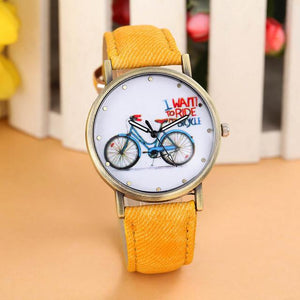 Casual Bicycle Pattern Women Watch - Every Day Itemz