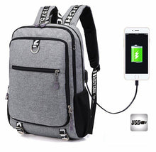 Load image into Gallery viewer, Multifunctional Oxford Casual laptop backpack For School With USB charger - Every Day Itemz