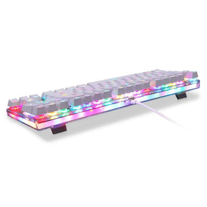 Wired Mechanical Keyboard with Colorful Backlighting for PC Gaming - Every Day Itemz
