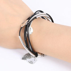 Silver Charm Leave Bracelets For Women - Every Day Itemz