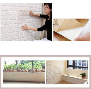 Brick Wall Covering Wallpaper For TV Background Kids Room - Every Day Itemz