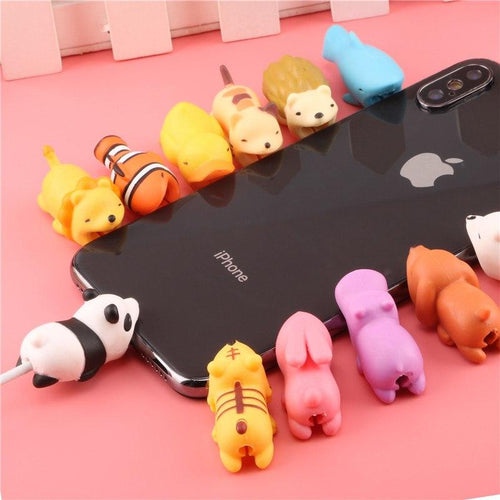 Cute Animal doll Cable bite protector for iphone - Every Day Itemz