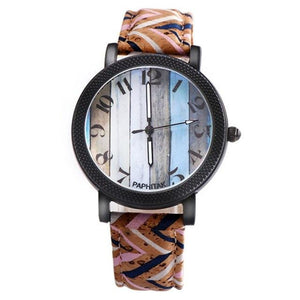 Multi color Unisex Leather Band Watch - Every Day Itemz