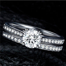 Load image into Gallery viewer, Silver Color Crystal Ring Sets For Women - Every Day Itemz
