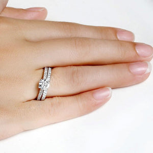 Silver Color Crystal Ring Sets For Women - Every Day Itemz