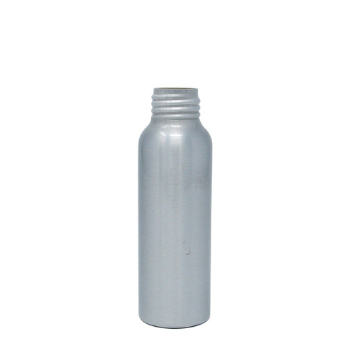 bottle boston round 4oz aluminum 24 410 with white cap