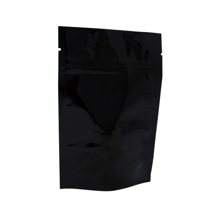 Stand Up ZipSeal Bag, Transparent w/ Black Back