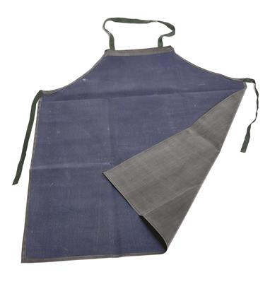 Lab Apron, PVC Coated Gray Denim