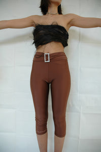 Brown midi tights