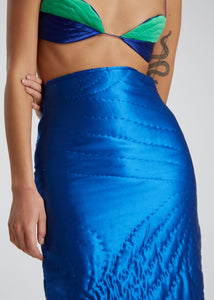 YORGAN DEEP BLUE SKIRT