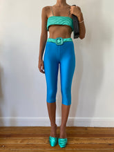 Load image into Gallery viewer, Blue Yorgan Belt Tights