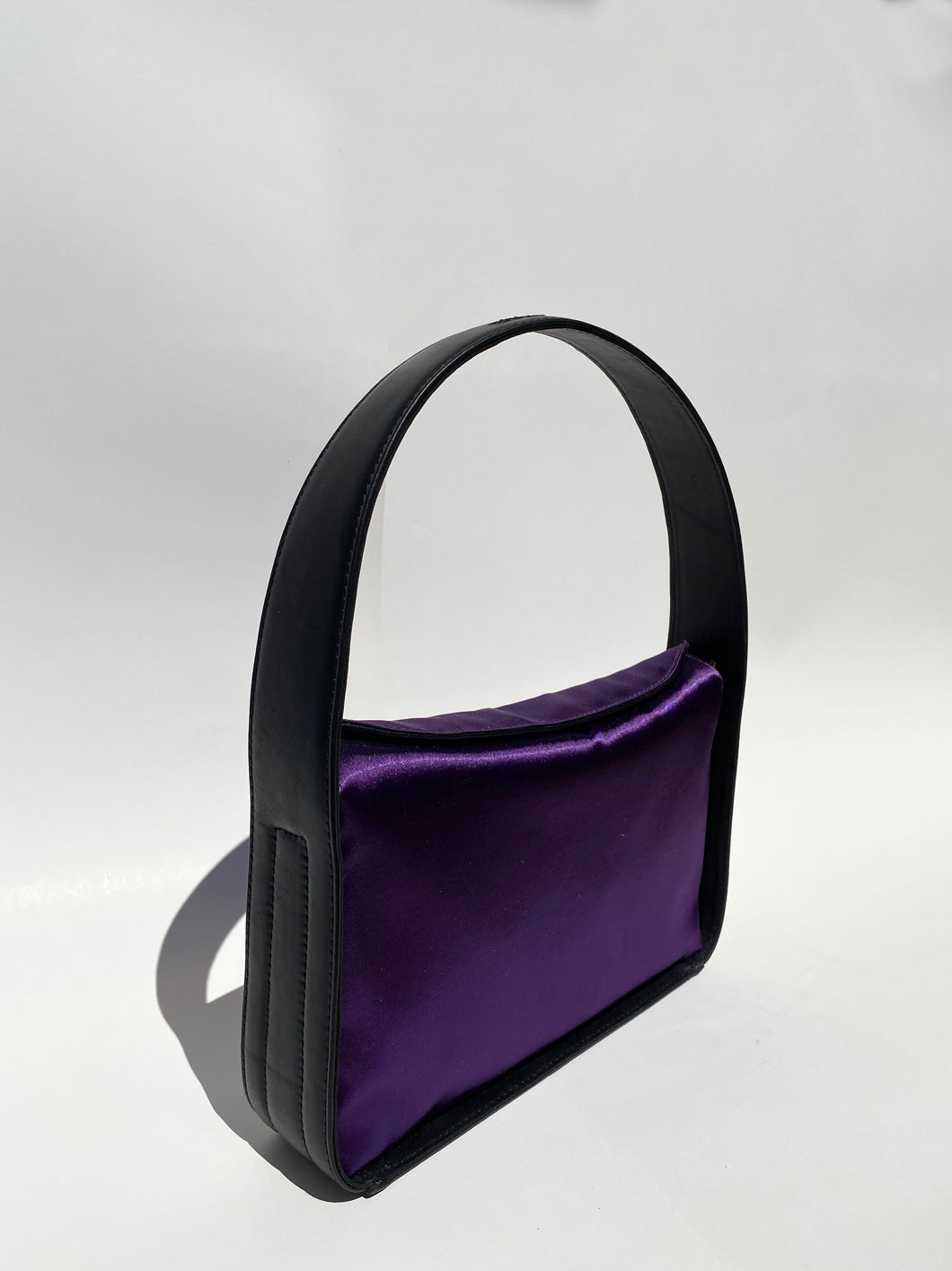 PURPLE BIG SATIN BAG