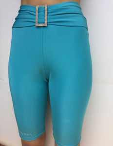 Turquoise Biker tights