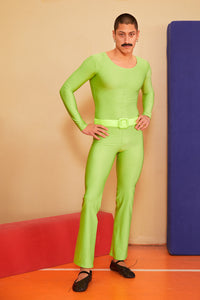NEON GREEN FLARED CATSUIT