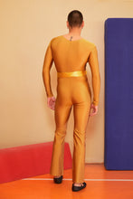 Load image into Gallery viewer, MUSTARD FLARED CATSUIT