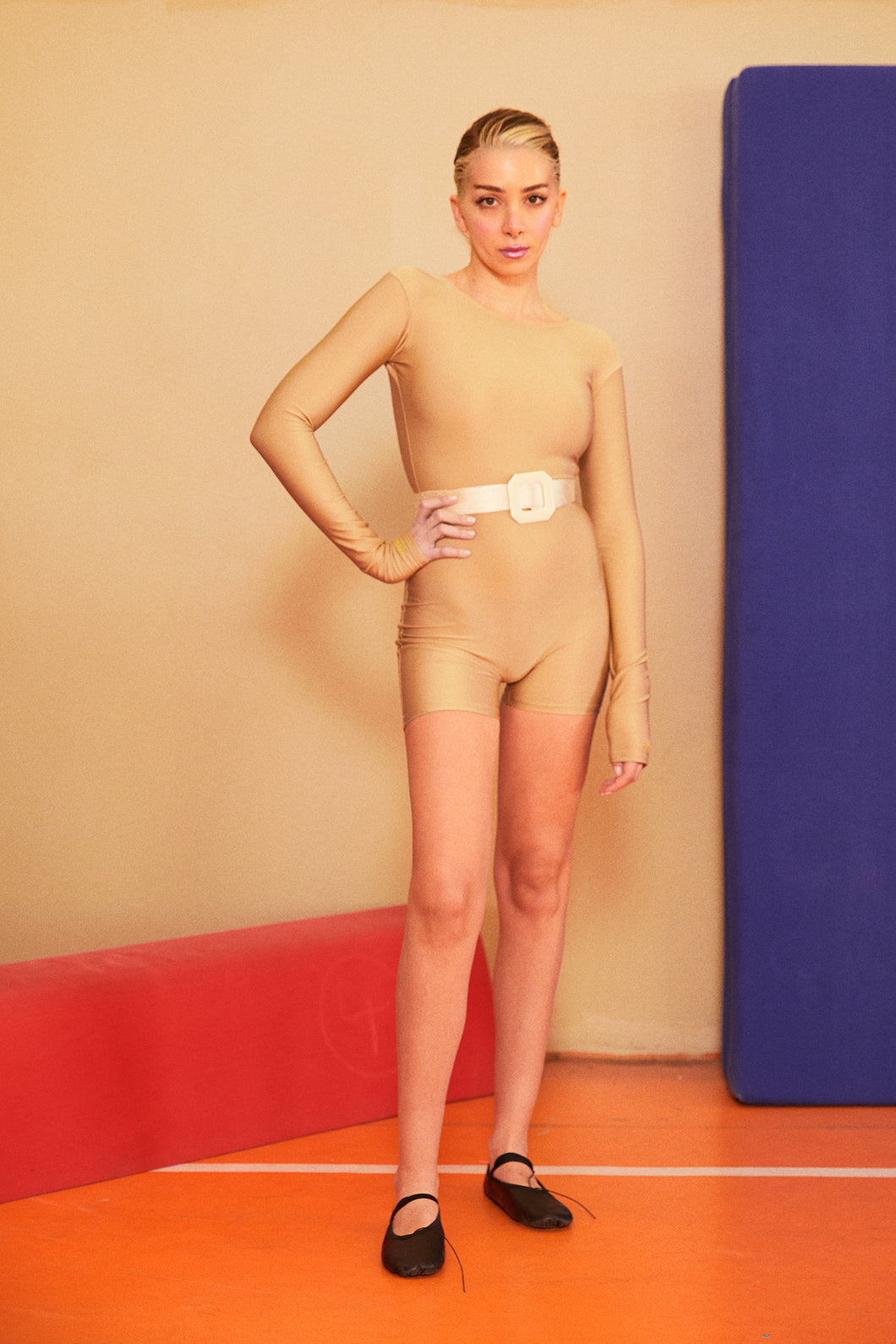 NUDE SHORT CATSUIT