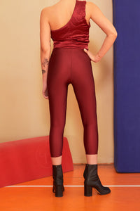 CLARET RED MIDI YORGAN/DIAMOND BELT TIGHTS