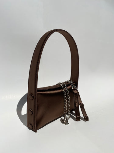 BROWN SATIN BAG