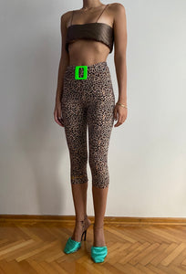 Neon Buckle Leopard Tights
