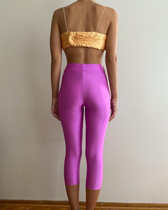 Pink-orange yorgan belt tights