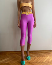 Load image into Gallery viewer, Pink-orange yorgan belt tights