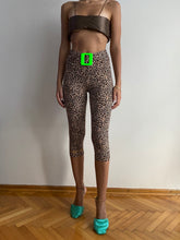 Load image into Gallery viewer, Neon Buckle Leopard Tights
