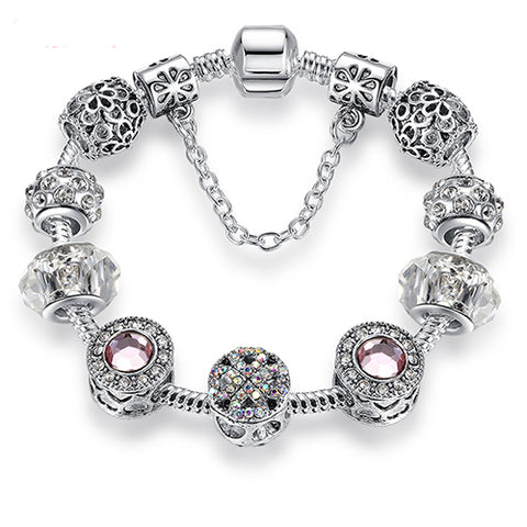 Knights of Silver - Fashionable Silver and Crystal Bracelets