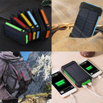 Solar Charge Power Bank 30000mah Waterproof External Battery  Powerbank Phone Batteries LED Pover Bank Rechargeable For Xiaomi