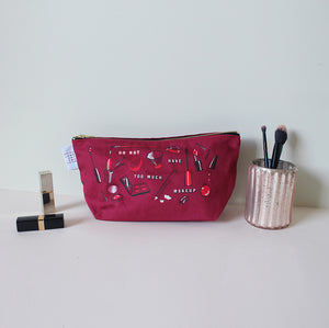I Do Not Have Too Much Makeup Washbag, Dark Red