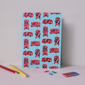 London Buses Light A5 Notebook
