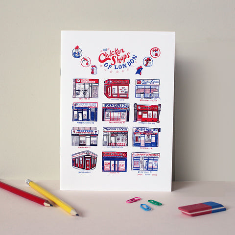 Chicken Shops of London A5 Notebook