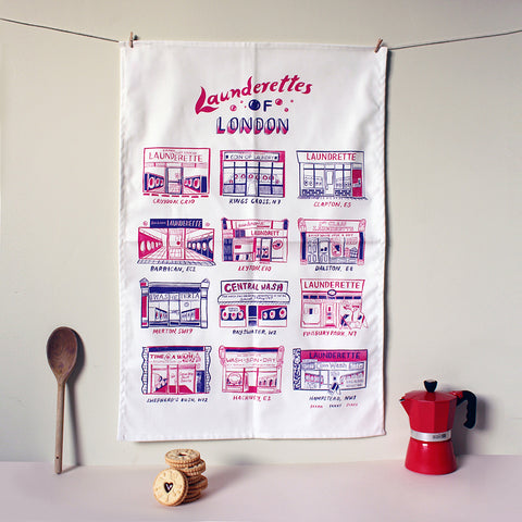 Launderettes of London Tea Towel