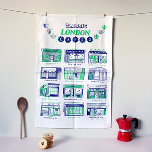 Classic London Cafes Tea Towel