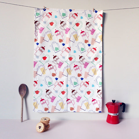 Coffee Pattern Tea Towel