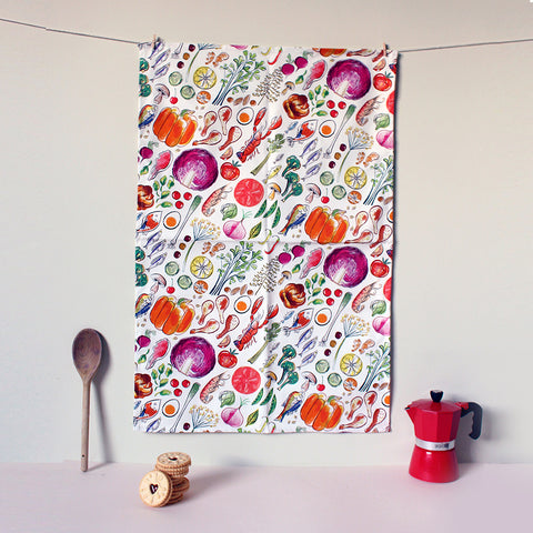 Cook's Ingredients Tea Towel