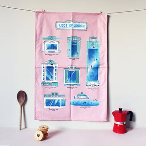 Lidos of London Tea Towel