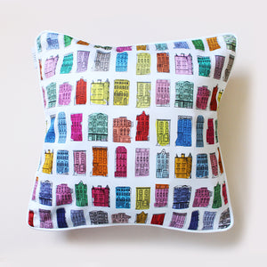 Colourful Houses Cushion