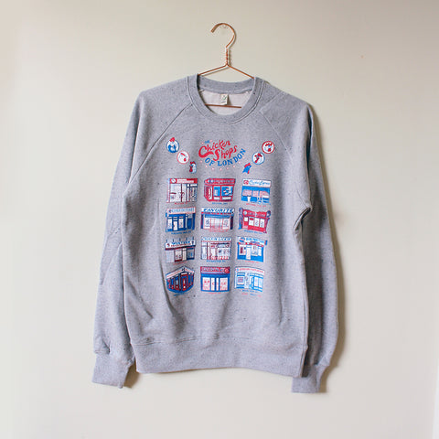 Chicken Shops of London Organic Sweater, heather grey
