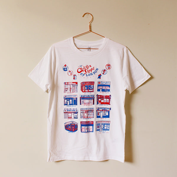 Chicken Shops of London T-Shirt, white