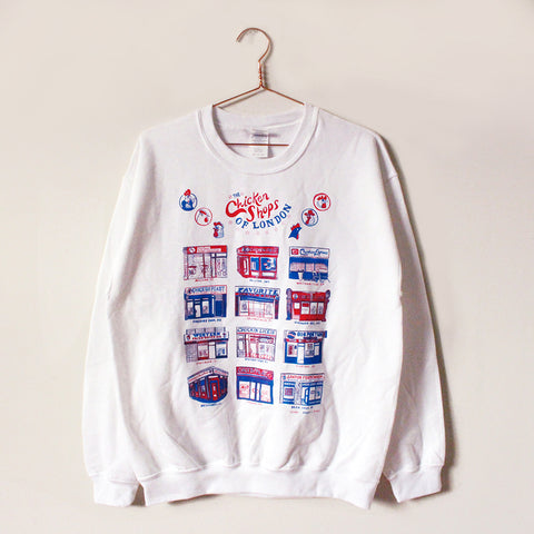 Chicken Shops of London Sweater, white