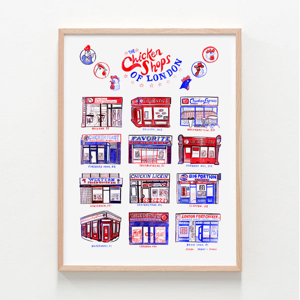 Set of Four Shops of London A3 Prints - BUY 3 GET 4th FREE