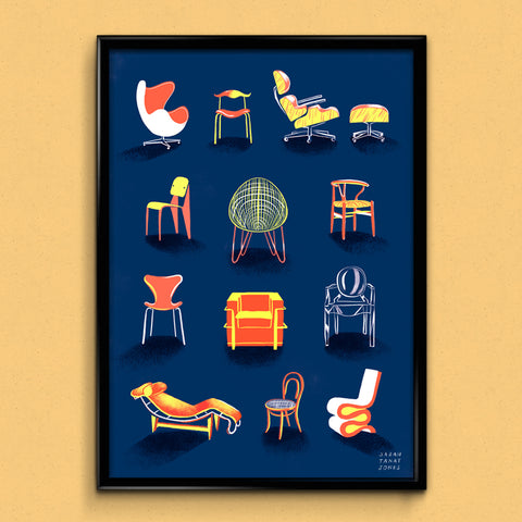Classic Chairs A3 Print